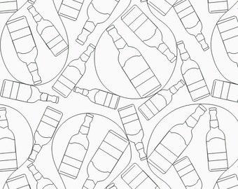 99 bottles e2e, digital quilting file, digital panto