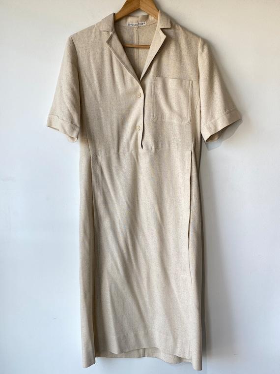 Vintage Guy Laroche Raw Silk Dress