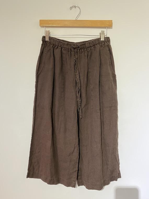 Vintage Eskandar Brown Linen Gauchos
