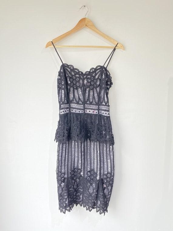 Vintage Betsey Johnson Black Lace Dress