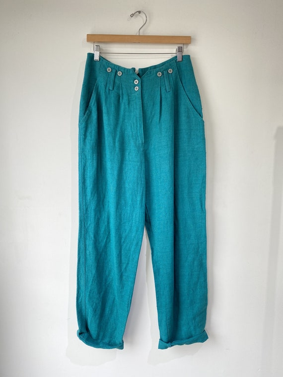 Vintage Bis Bis Gene Ewing Linen Trousers