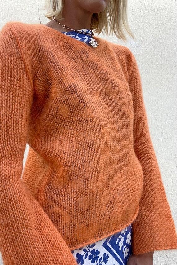 Ann Demeulemeester Orange Mohair Sweater