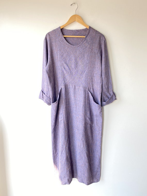 Flax Lavender Linen Dress