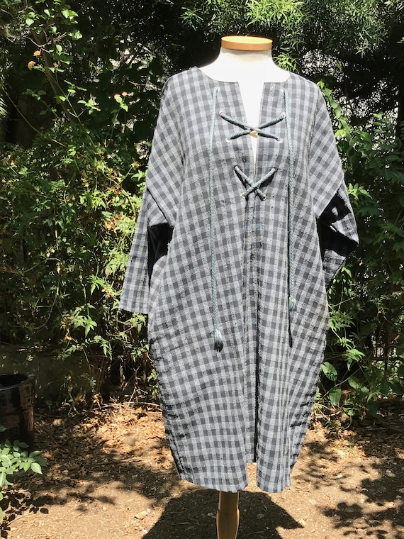 Vintage Gingham Shift Dress
