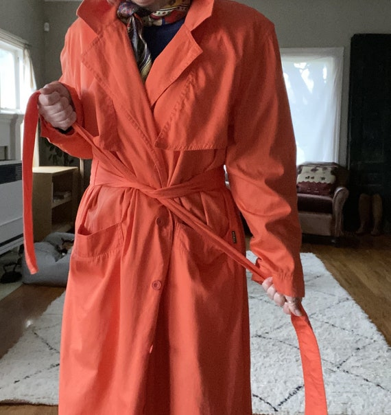Vintage Bis Bis Orange Sherbet Raincoat