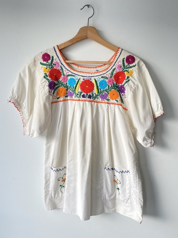 Vintage Mexican Embroidered Top