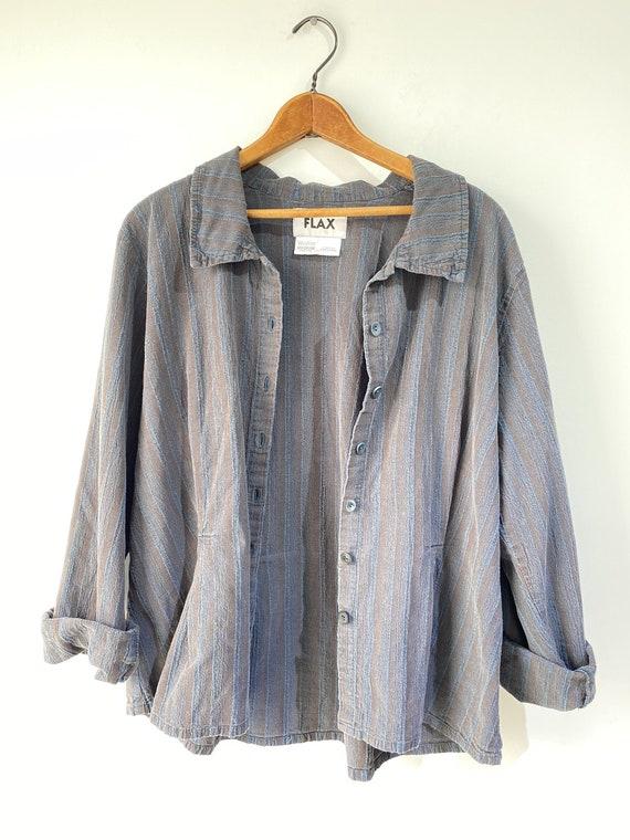 Vintage Flax Grey Linen Jacket