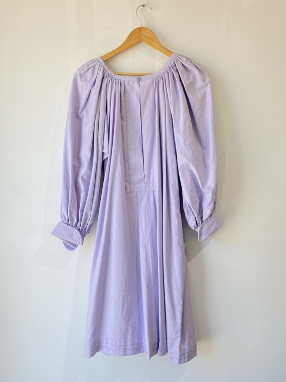 Vintage Lavender Puff Sleeve Dress