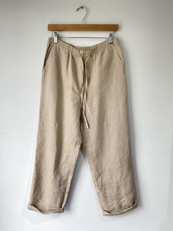 Petite Sophisticate Linen Pants