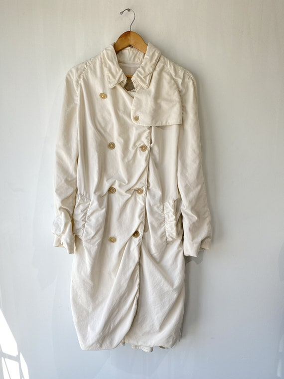 Vintage Burberry White Trench Coat