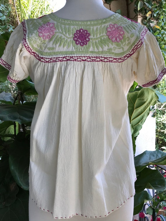 Vintage Embroidered Peasant Top - image 2