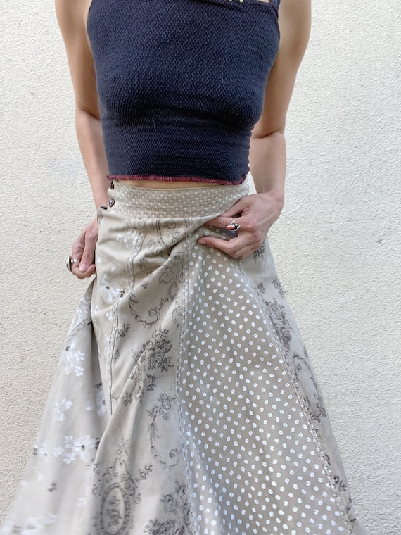 RESERVED for A - Vintage Suede Skirt - image 7