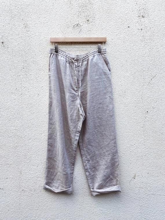 Oatmeal Linen Pants