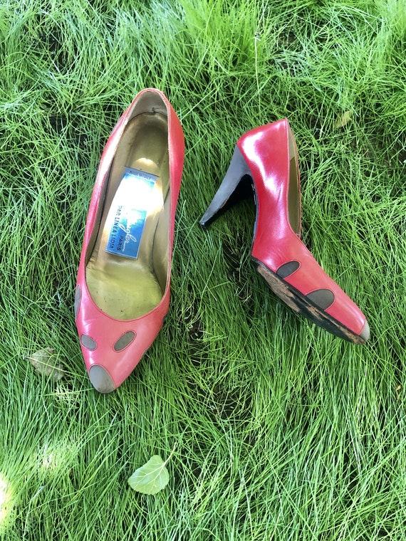 Vintage Thierry Mugler Ladybug Heels