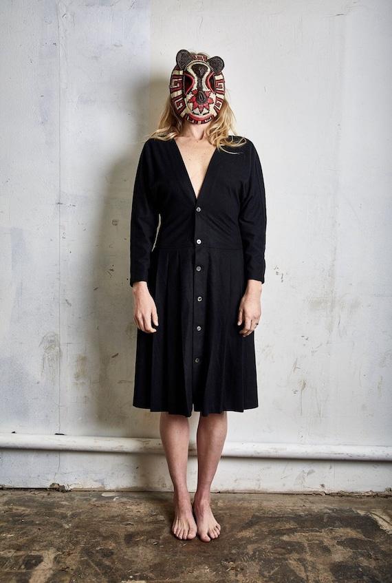 Vintage Comme des Garçons Tricot Black Dress c. 1… - image 1