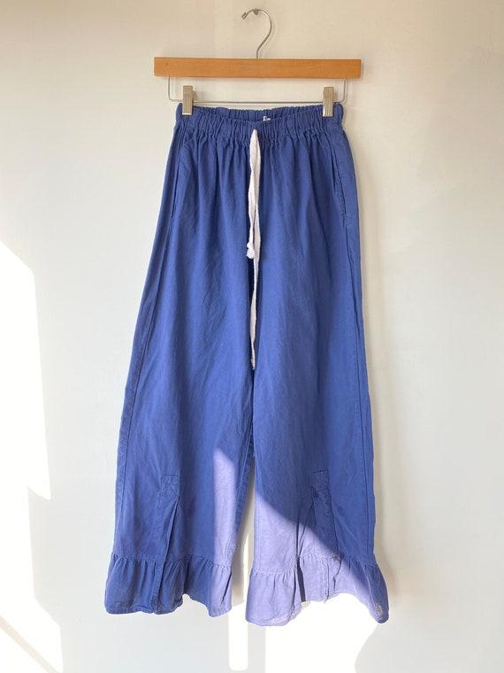 Vintage Blue Cotton Bloomers