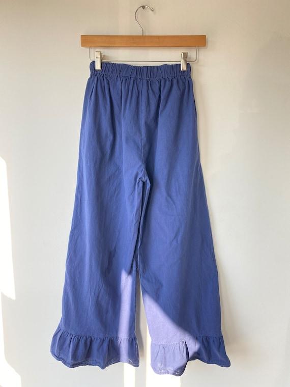 Vintage Blue Cotton Bloomers - image 5