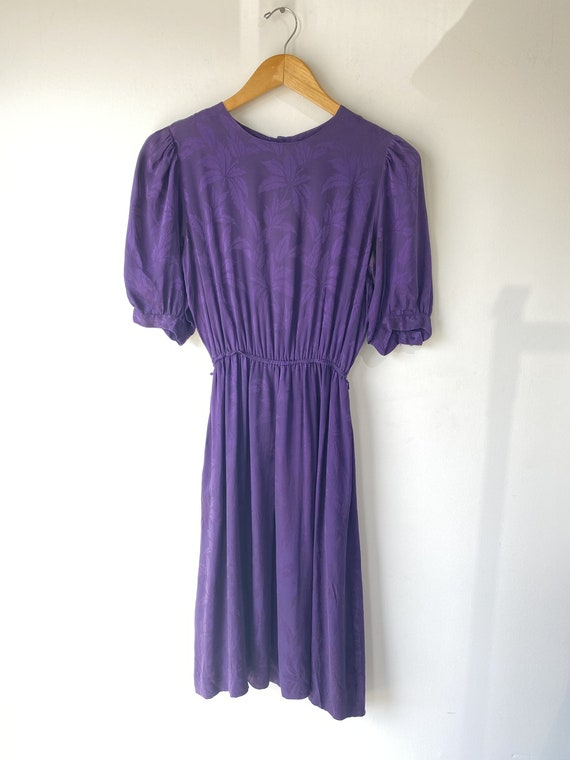 Vintage Deep Purple Silk Dress