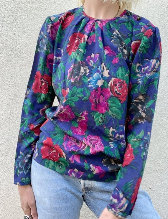 Vintage Emanuel Ungaro Floral Blouse