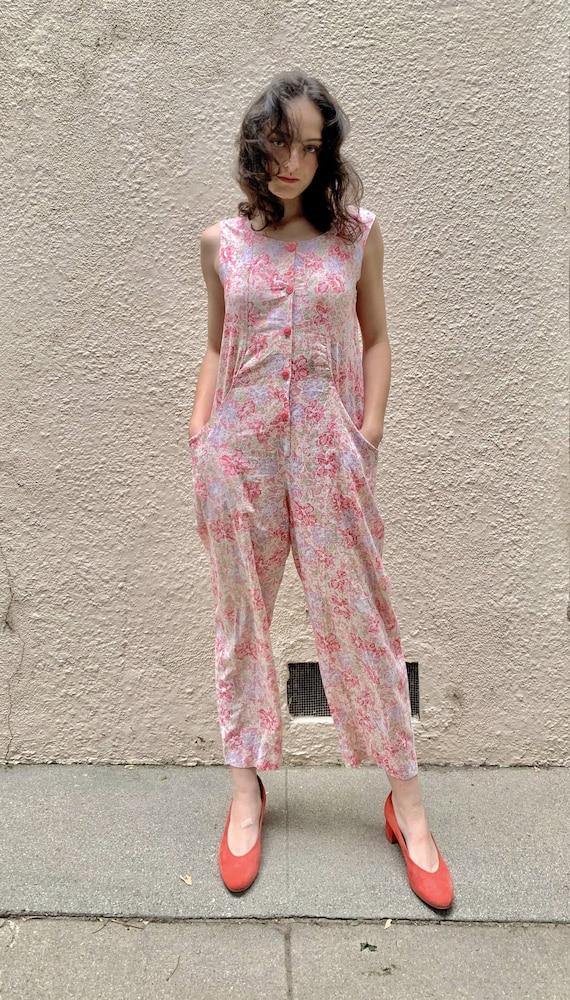 Vintage Laura Ashley Floral Jumpsuit