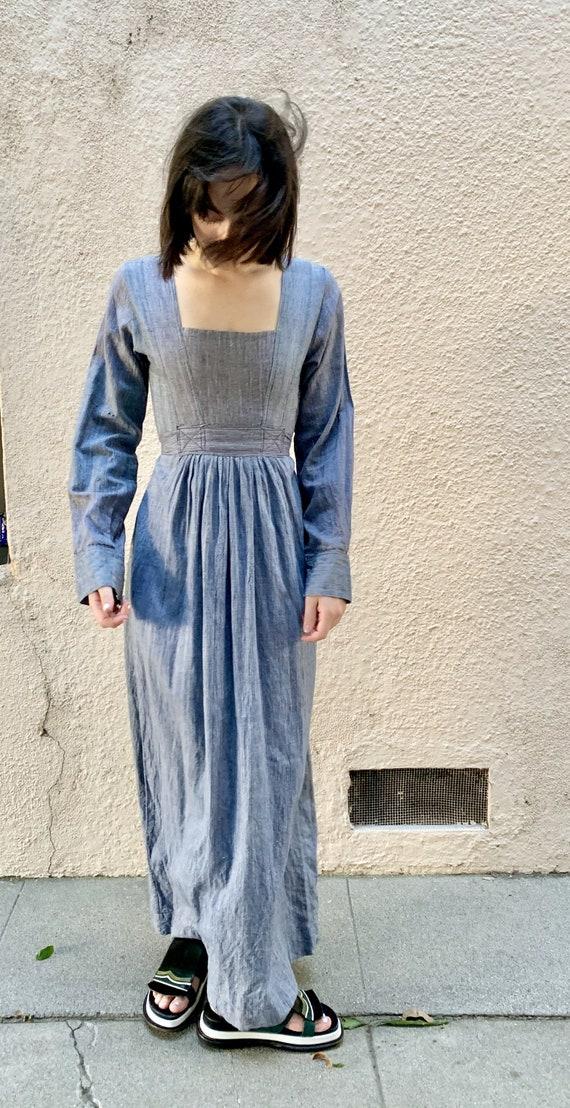 Vintage Pakistani Cotton Maxi Dress