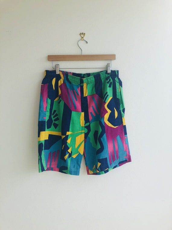Vintage Jams Original Abstract Swim Shorts