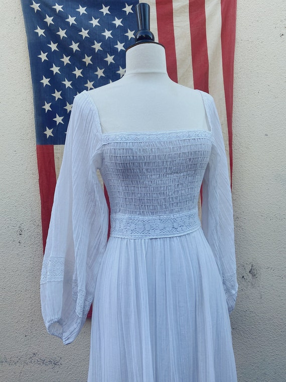 Vintage Puff Sleeve Mexican Wedding Dress