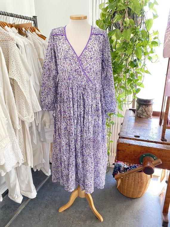 Blue Boheme Lavender Floral Dress