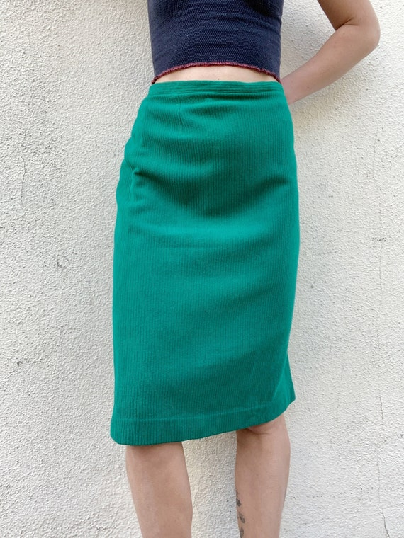 Vintage Green Knit Skirt