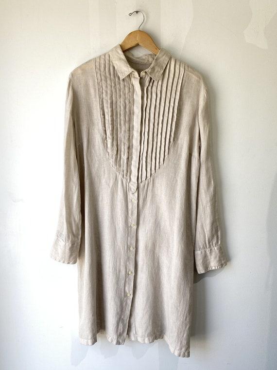 120 Lino Oatmeal Linen Dress