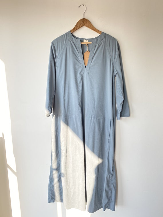 Pietsie Blue Cotton Maxi Dress