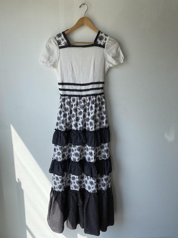 Vintage Black and White Prairie Dress