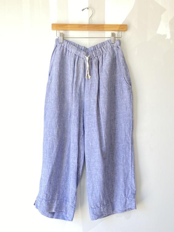 Flax Blue Chambray Linen Pants