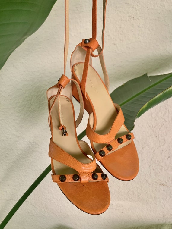 Vintage Balenciaga Orange Sandals
