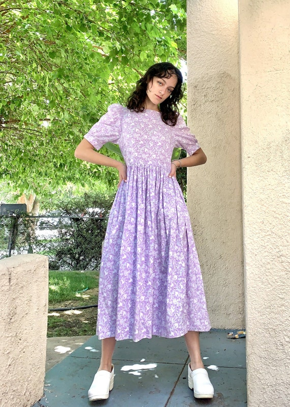 Vintage Laura Ashley Lavender Dress