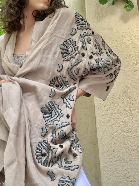 Of Two Minds Linen Robe Dress