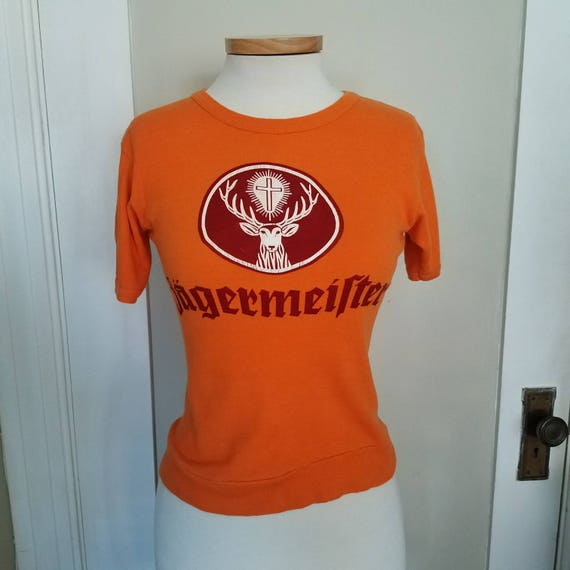 665973745f2 Vintage Orange Jagermeister T-shirt size small. No label.