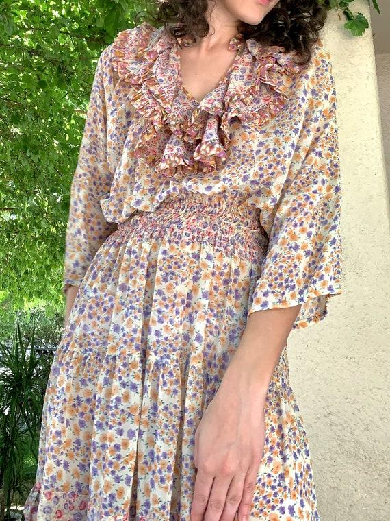 Vintage Diane Freis Floral Dress