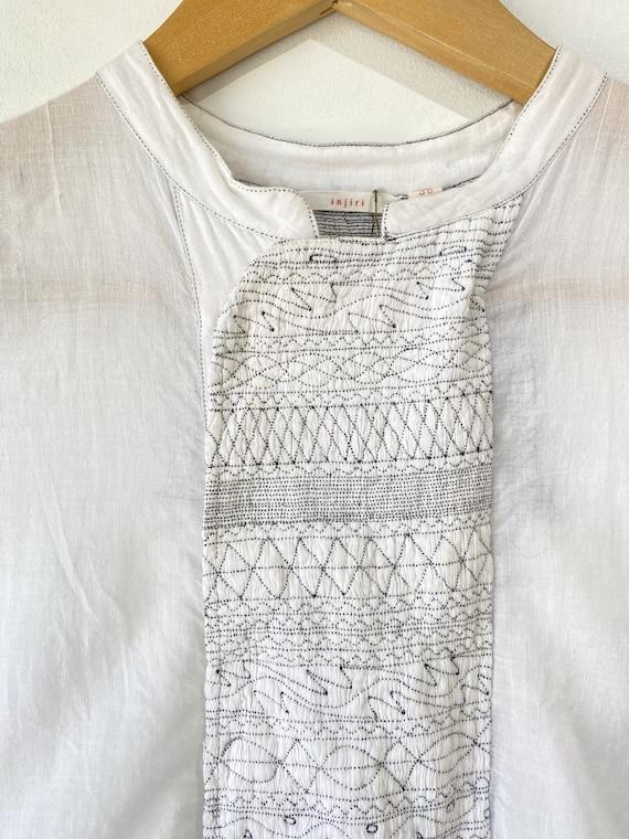 Injiri White Embroidered Dress - image 3