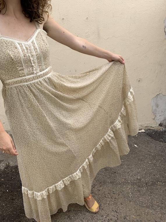 Vintage Gunne Sax Cream Floral Dress - image 4
