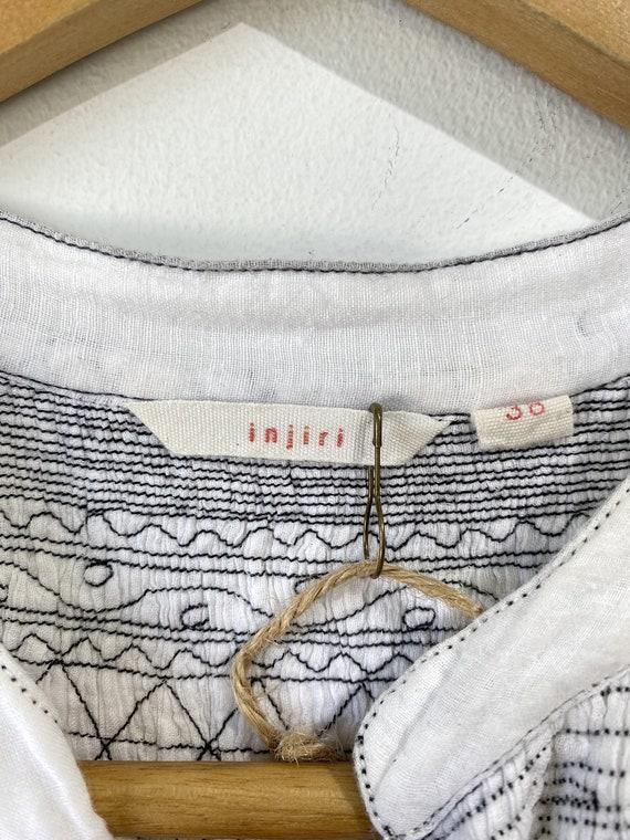 Injiri White Embroidered Dress - image 4