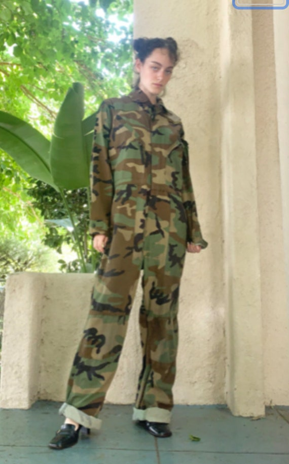 Vintage Camouflage Coveralls