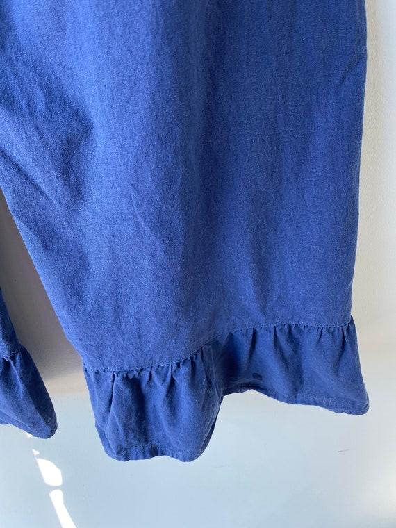 Vintage Blue Cotton Bloomers - image 6
