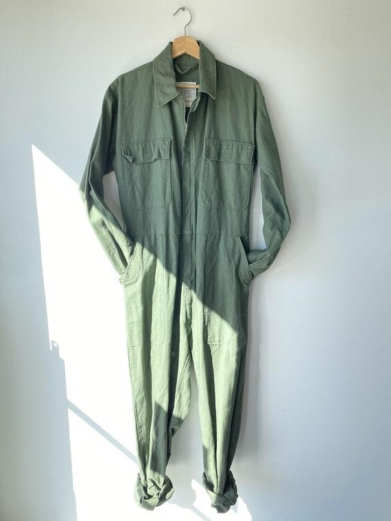 Vintage Army Flight Jumpsuit w Zipper