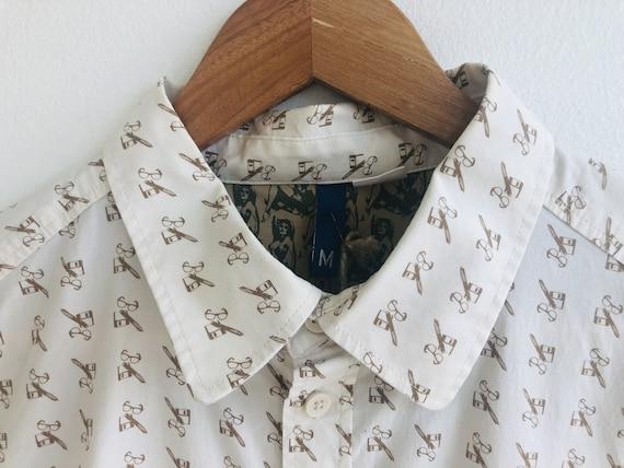 Vintage Novelty Glasses Print Shirt - image 3