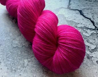 DRAGONFRUIT - 80/20 Merino Sock Hand-dyed Yarn - 400 yds
