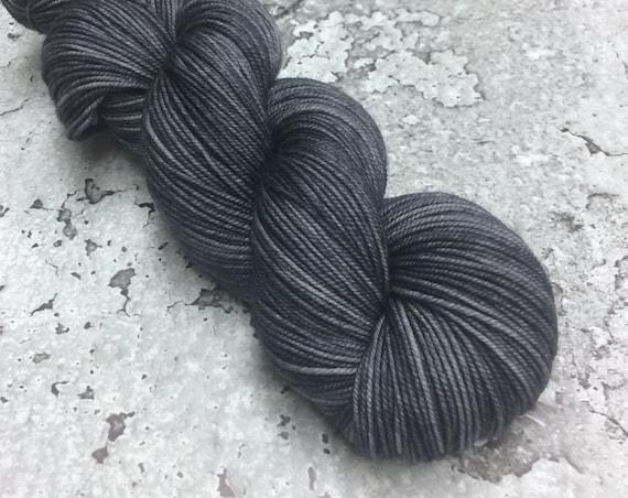 CHARCOAL - Merino Sport Hand-dyed Yarn