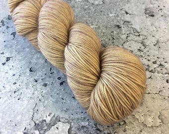 Hand-dyed Merino Sport Yarn - SAND - 328 yds/100g