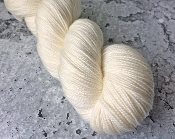 VANILLA - 80/20 Merino Sock Hand-dyed Yarn - half skein