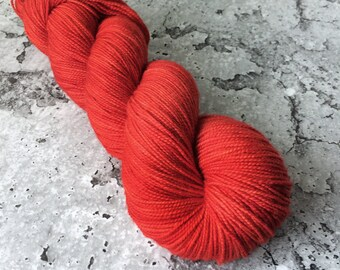 HOLIDAY RED - 80/20 Merino Sock Hand-dyed Yarn